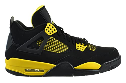 hot sale online 84beb 6922e Amazon.com   Jordan Air 4 Retro Thunder Men s Shoes Black White-Tour Yellow    Basketball