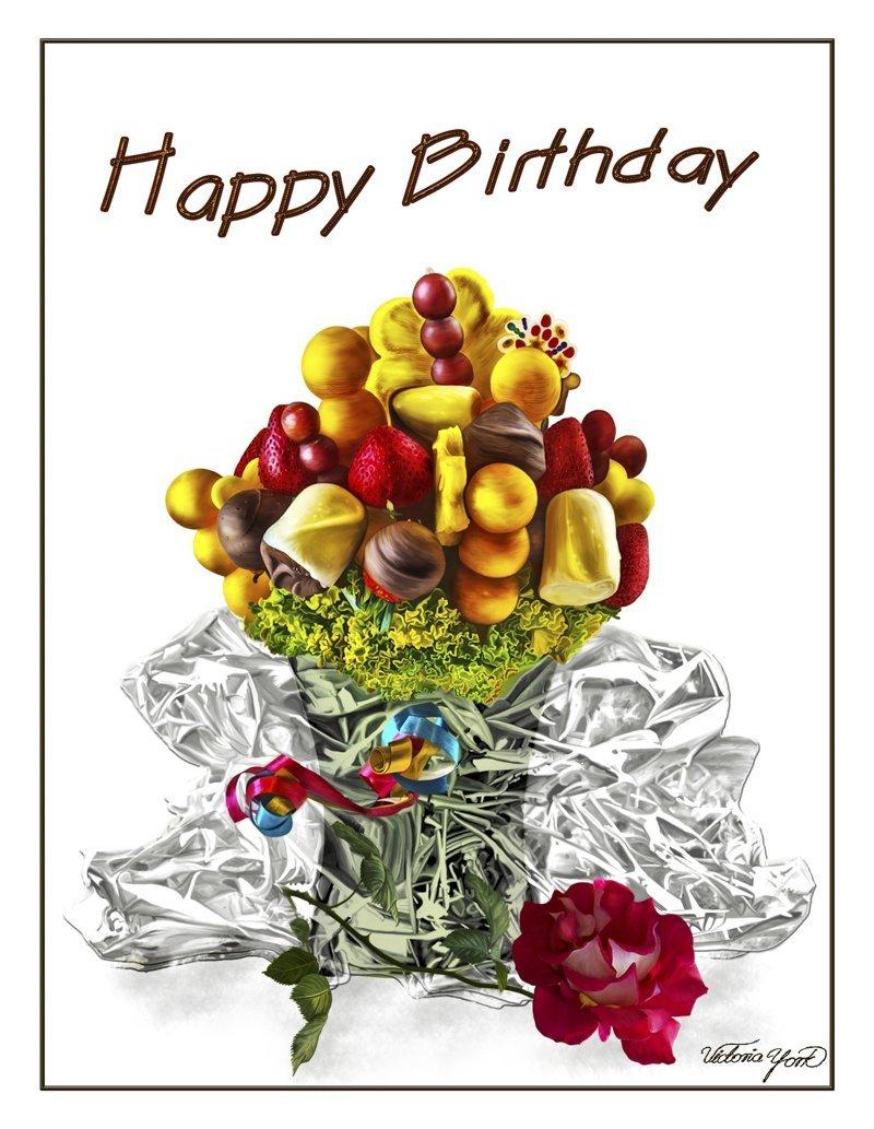 Amazon Fine Art Birthday Greeting Card With Matching Envelope The Sweet Temptation Item 03 032 Handmade