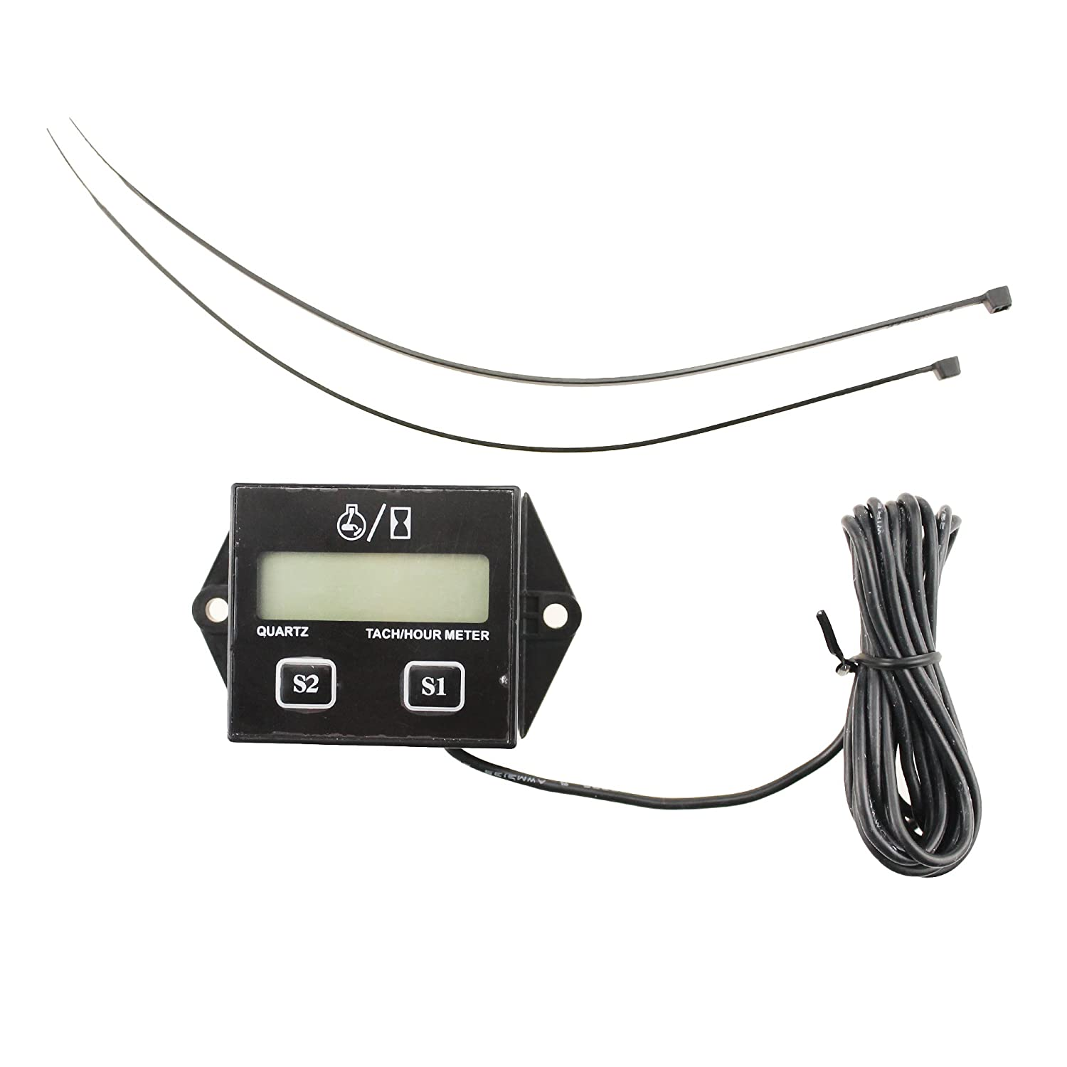 Iztoss Lcd Display Digital Tachometer Rpm Tacho Gauge Tach Wiring Diagram On A 87 Ford F150 In Addition Diesel Hour Meter For Motorcycle Boat Engines Automotive