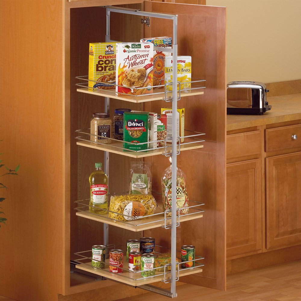 Pull-Out Pantry Units Center Mount, Metal by Knape & Vogt