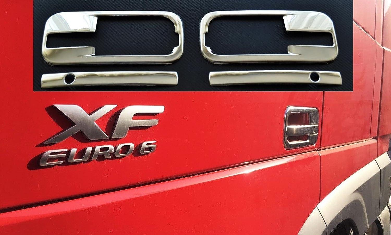 4-teiliges Set aus Edelstahl Zubeh/ör rechts und links T/ür Griffe 3D Dekorationen f/ür XF 106/Euro 6/Trucks