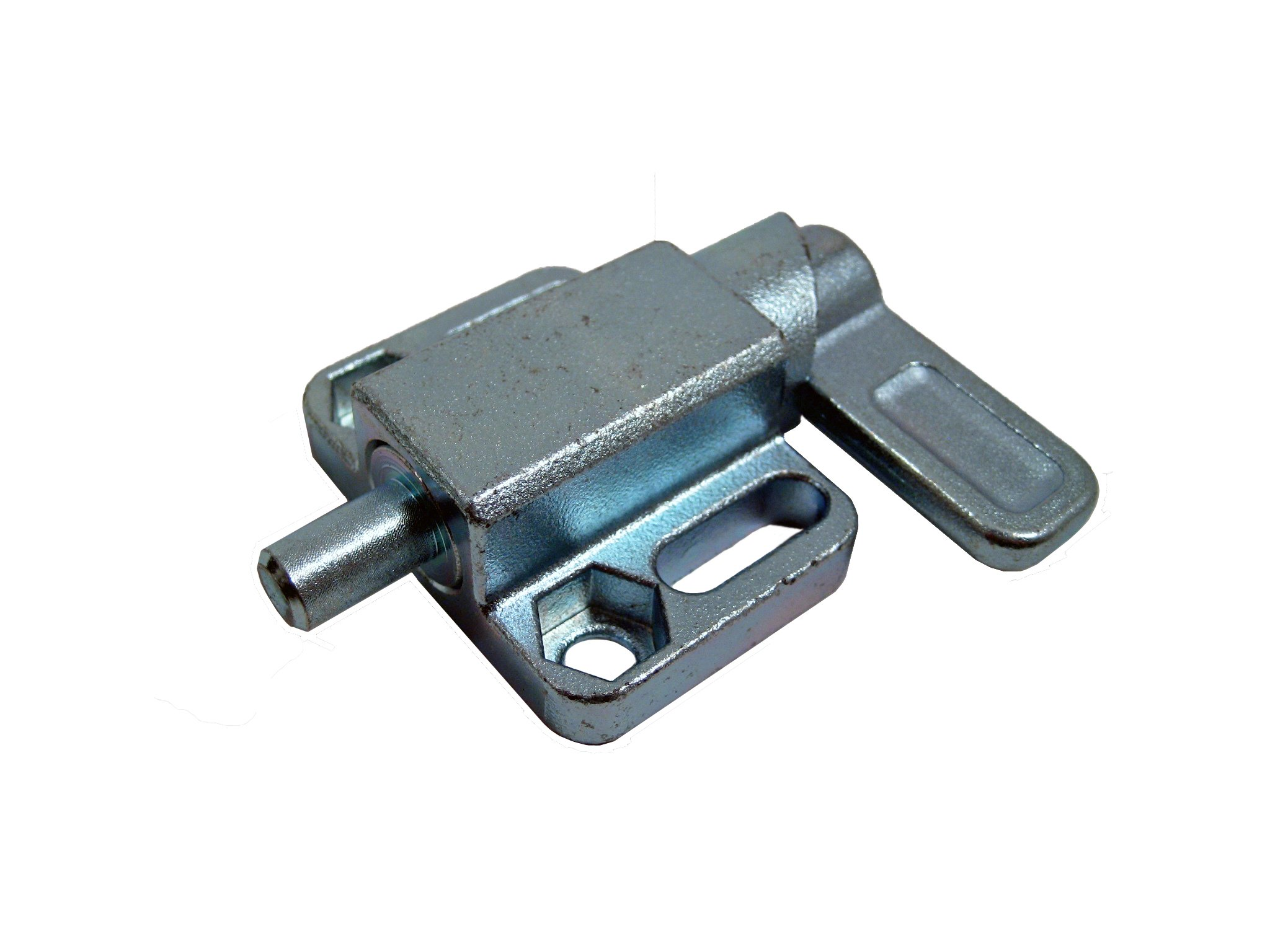GN 722.3 Series Steel Square Spring Latche with Flange, Type L Left Indexing Cam, Zinc Plated Finish, 68mm Length, 8mm Diameter by JW Winco