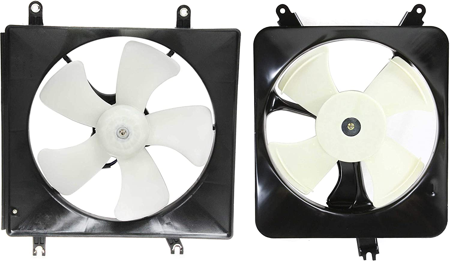 Cooling Fan Assembly Compatible with HONDA Accord 1994-1997 Set of 2 A/C Fan Shroud and Radiator Fan Shroud Assembly 4 Cyl
