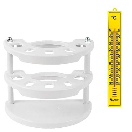 Lantelme 7374 Soporte para Cepillo de Dientes y Cuarto de baño termómetro Amarillo en Juego –