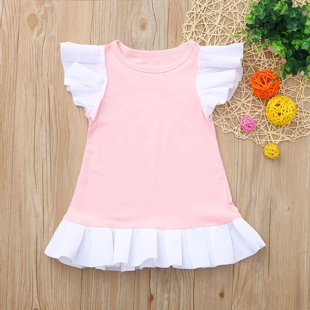 Baby Girls Dress Ruffles Cotton Clothing Set Little Princess Dress for Toddler Kids Newborn Baby Girl Skirt Outfits