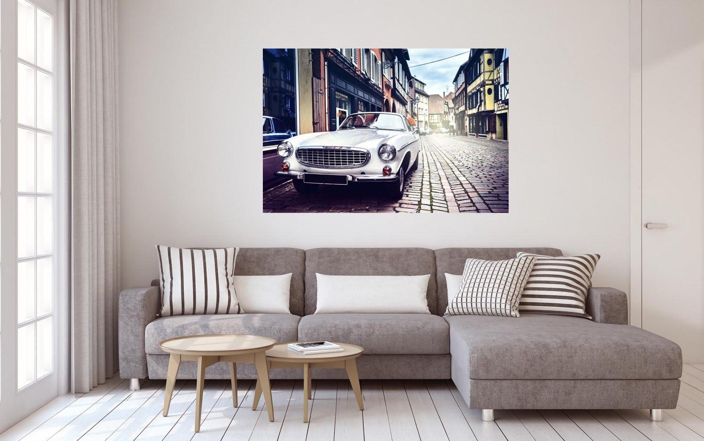 Auto Oldtimer Stra/ße Gasse City Stadt XXL Wandbild Foto Poster P0437 Gr/ö/ße 90 cm x 60 cm Gr/ö/ße 90 cm x 60 cm