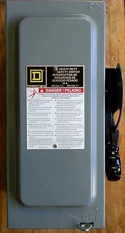SCHNEIDER ELECTRIC 240-Volt 30-Amp 2-Point Nema-1 H221N Switch Fusible Hd 240V 30A 2P Nema1