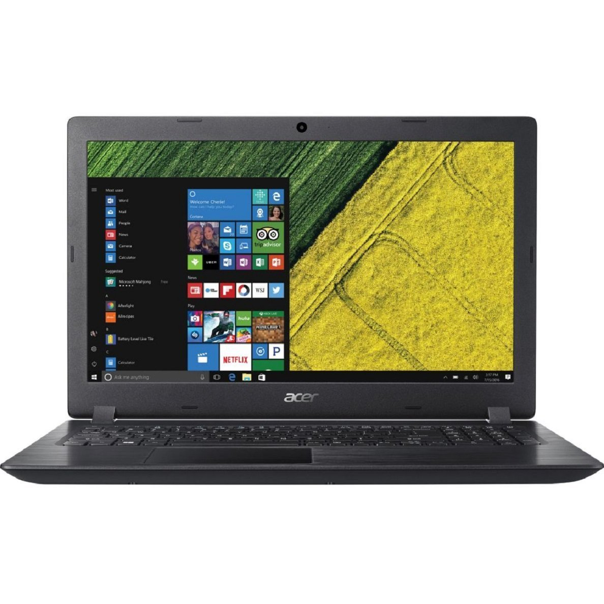2018 Premium Newest Acer 15.6 Inch Flagship Notebook Laptop Computer (Intel Core i3-7100U 2.4GHz, 8GB RAM, 128GB SSD, Intel HD Graphics 620, WiFi, SD Card Reader, HDMI, HD Webcam, DVD, Windows 10) by Acer (Image #1)
