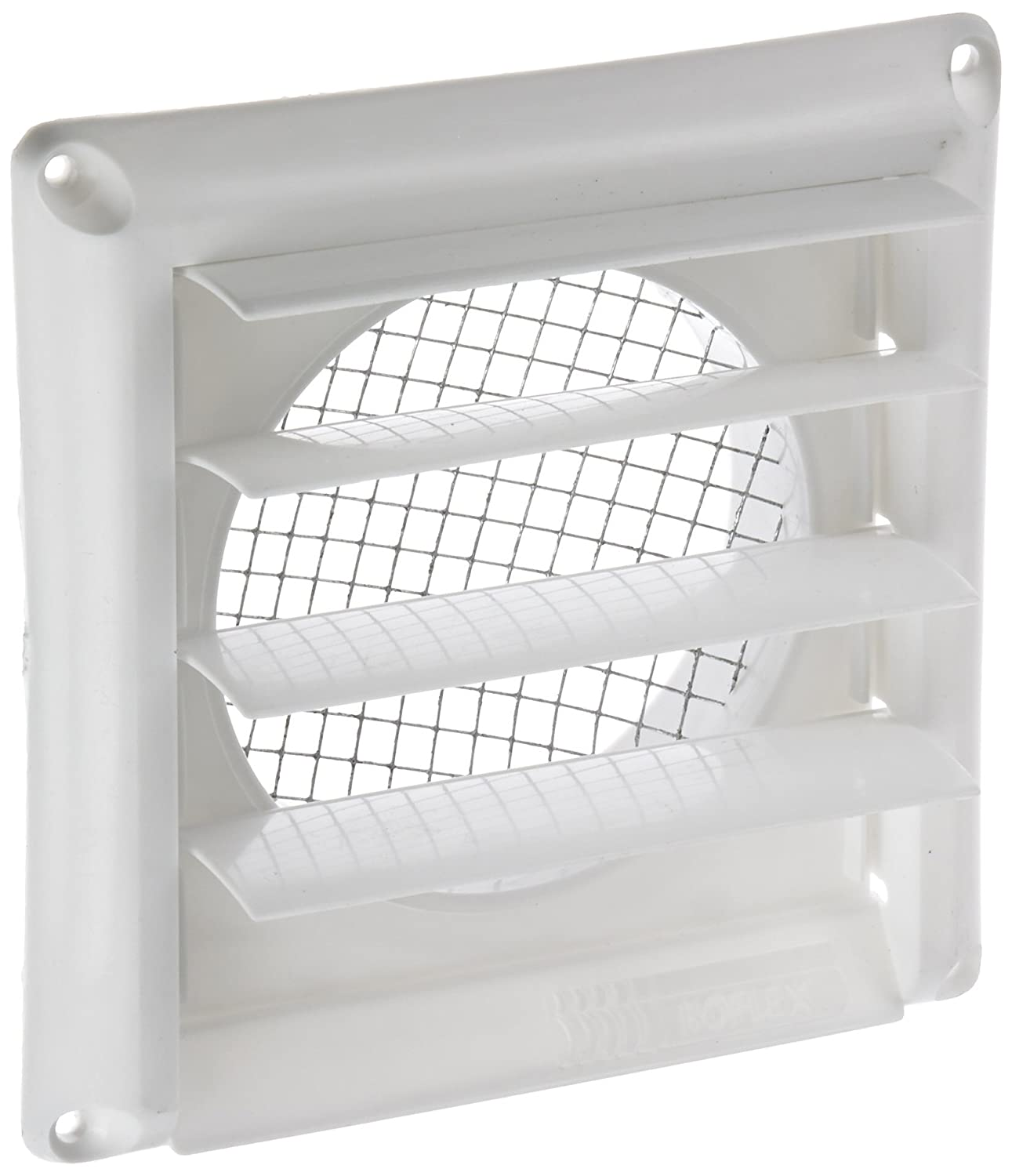 "Imperial 4"" Louvered Vent Cap with Metal Screen, White, GG-4W"