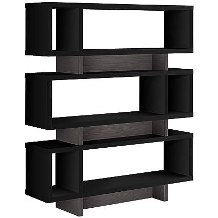 Amazon Com Monarch Specialties I I 7440 Bookcase 55 H Grey