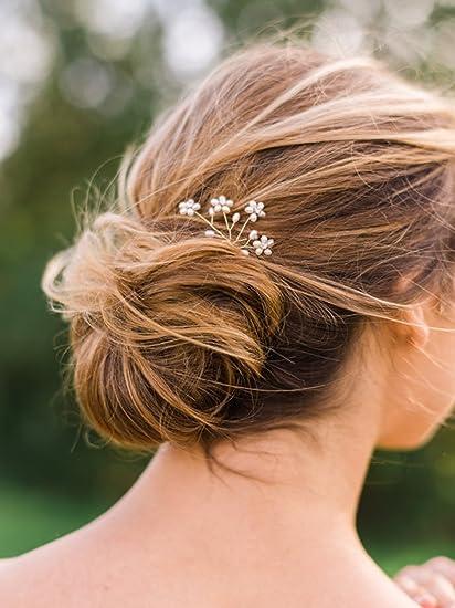 soldes nuances de style actuel Fxmimior nuziale forcine per capelli con strass e perle ...