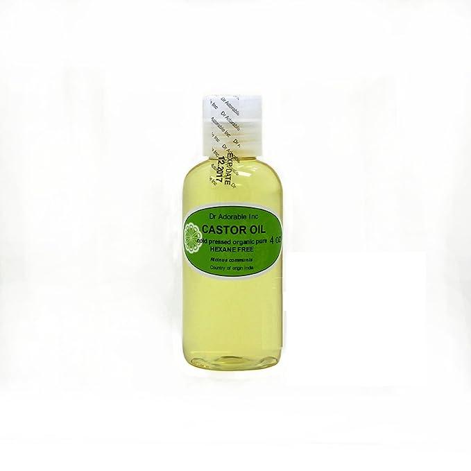 Aceite de ricino Virgen Orgánico Puro prensado en frío por Dr. Adorable 4 oz: Amazon.es: Belleza