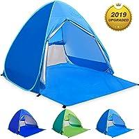 WLOVETRAVEL Strandmuschel,Outdoor Automatisches Pop Up Strandzelt, Tragbare Kabine Camping Zelt Sonnenschutz für 2-3 Personen