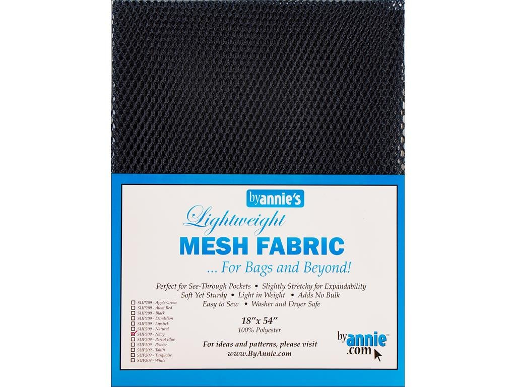 By Annie PBA02033 Light Weight Mesh Fabric, 18 by 54, Turquoise 18 by 54