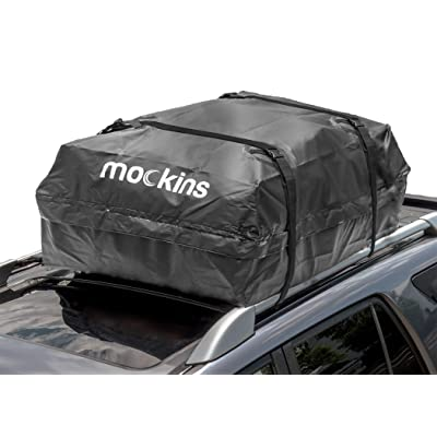 "Mockins Waterproof Cargo Roof Bag | The Car Top Carrier Bag is Made from Heavy Duty Abrasion Resistant Vinyl and is 44"" Long X 34"" Wide X 18"" High Giving You 15 Cu.ft.Capacity … … … … … …: Automotive"
