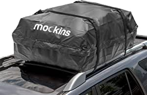 "Mockins Waterproof Cargo Roof Bag | The Car Top Carrier Bag is Made from Heavy Duty Abrasion Resistant Vinyl and is 44"" Long X 34"" Wide X 18"" High Giving You 15 Cu.ft.Capacity … … … … … …"