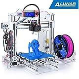 ALUNAR-M508 【工場直販】Reprap Prusa i3 3Dプリンターキット DIY未組立 3D造形サイズ7200cm³ 透明なアクリルフレーム 組立ビデオSDカード付属
