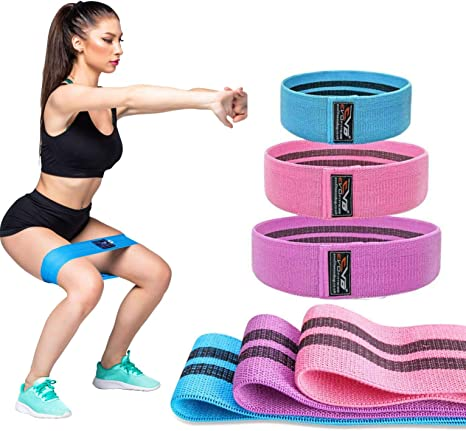 UK Fitness Booty Resistance Bands Elastic Non Slip Gym Yoga Leg Exercise Workout