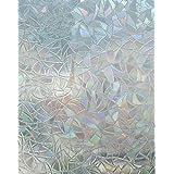Arthome Película Privacidad Decorativa de Vidrio 60CM x 254CM,Efecto Arco Iris,Sin Pegamento Vinilo Pegatina de Ventana,Adher