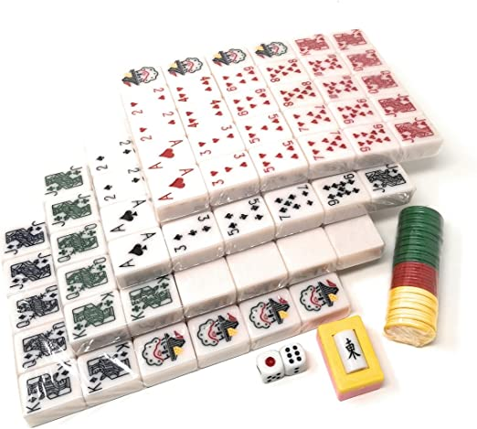 MahJong by CHH Inc NEW 2 Multi Game Tile HOLDERS - CLEAR Domino Rummy