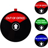 Privacy Sign, in a Meeting Sign, Out of Office Sign, Welcome Please Knock Sign, Office Sign, Conference Sign for Offices, 5 Inch, Black