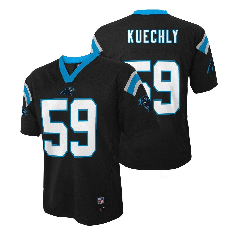 e4c92ccf Luke Kuechly Carolina Panthers NFL Kids Black Home Mid-Tier Jersey