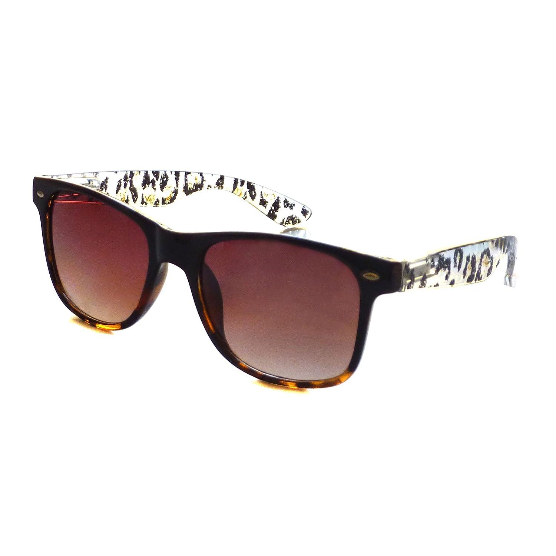 cheap KIDS Children Trendy Black Frame Animal Style Sunglasses CLEAR/BROWN supplies