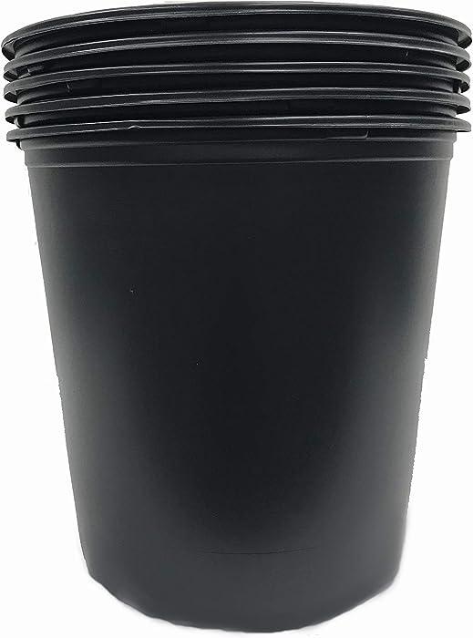 Viagrow VHPP500-5 Nursery Pot, 5 Trade Gallons (4. 02 US Gal/ 15.19 L/ 924 cu in), 5 Gallon, Black