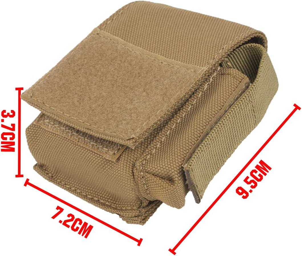 Portasigarette in nylon impermeabile con porta accendino e passante per cintura Shidan