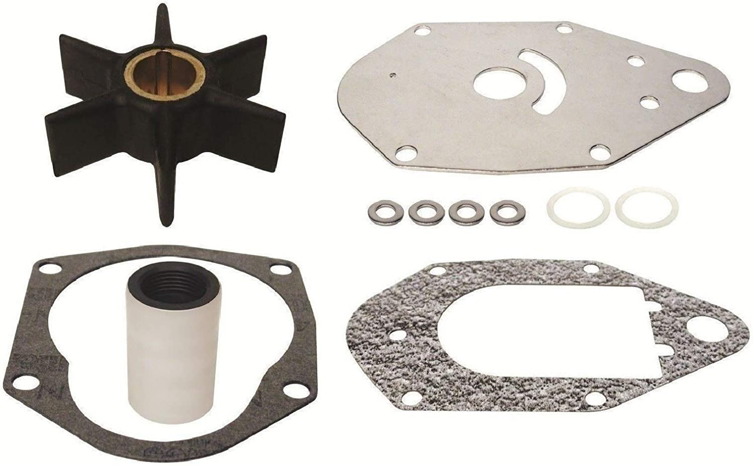 GLM Water Pump Impeller Kit for Mercury 50 55 60 hp 3 Cylinder Replaces 47-19453T3, 47-19453Q2 Please Read Product Description for Exact Applications