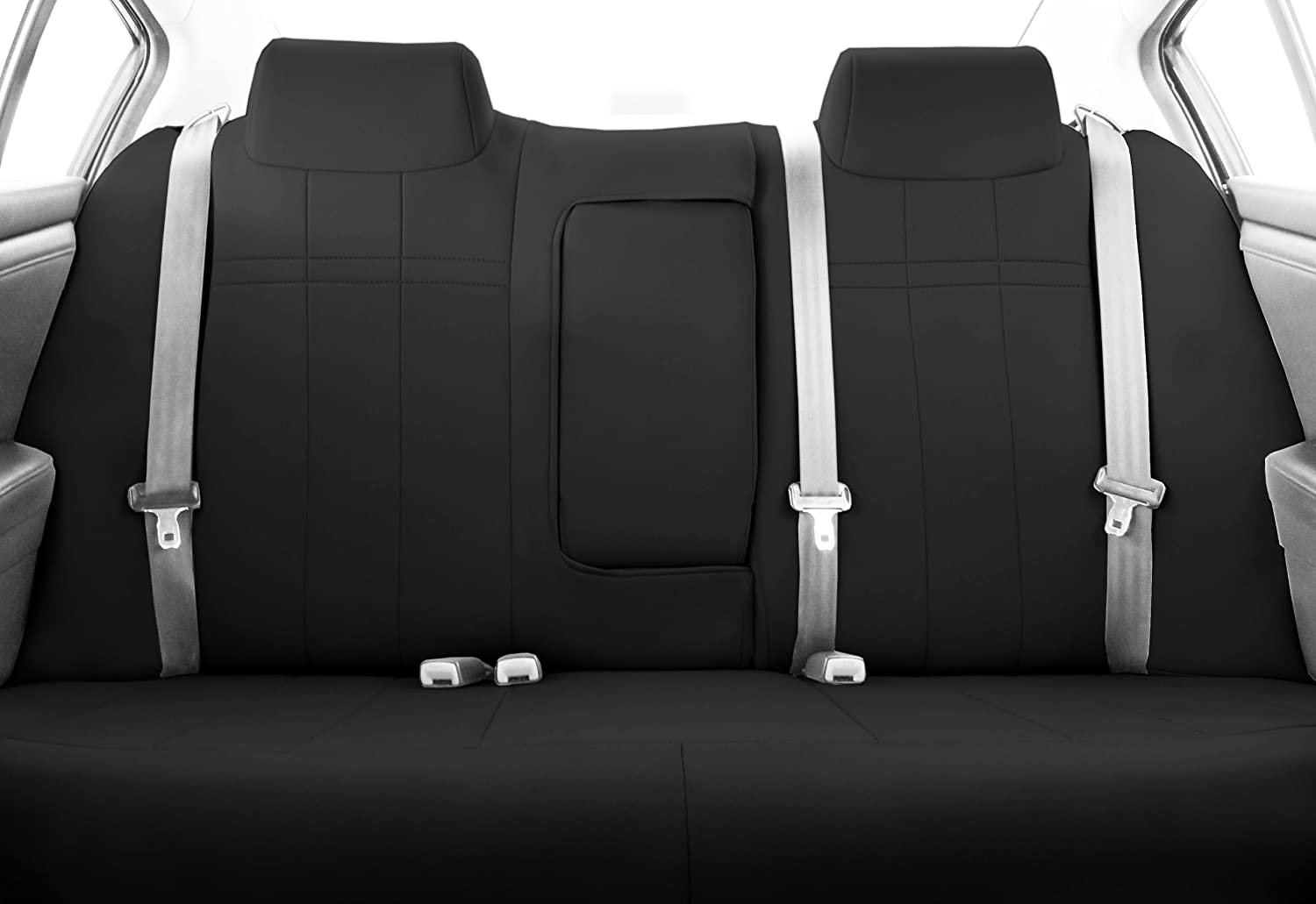Charcoal Insert with Black Trim Neoprene CalTrend Front Row Bucket Custom Fit Seat Cover for Select Nissan Titan Models