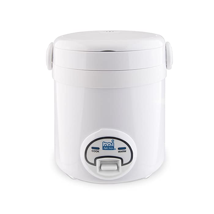 Aroma Housewares MI 3-Cup (Cooked) (1.5-Cup UNCOOKED) Cool Touch Mini Rice Cooker