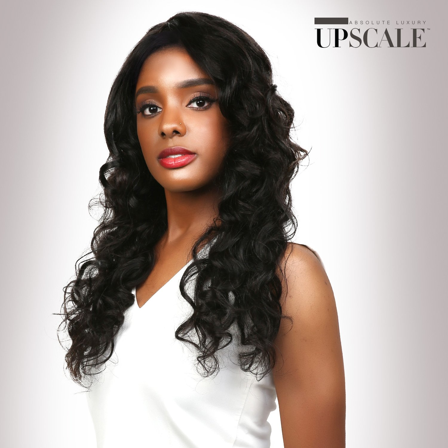 UpScale 100% Virgin Remi Human Hair Lace Front Wig Various Styles of Deep Part Lace Wig in Natural Color