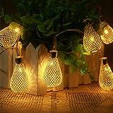 Xcellent Global Striscia Luminosa con 12 Lanterne a forma di Pera a LED a 2 Modalit? e per Esterni, Interni, Matrimoni, Natale, Feste, Giardino LD062
