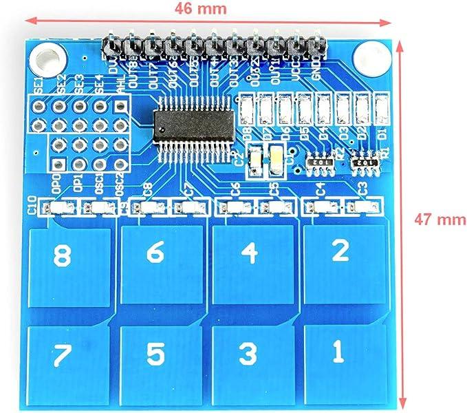 TTP226 Touch Sensor 8 Taster Tastenfeld Tastatur Schalter Arduino Raspberry Pi
