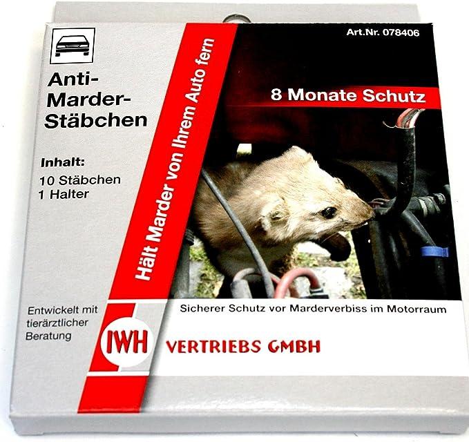 Iwh 78406 Anti Marder Stäbchen 10 Stück Mit Halter Auto