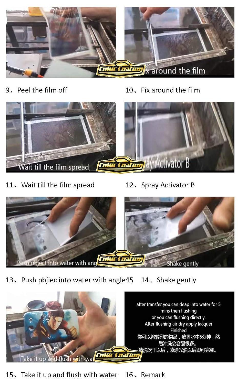 0.42x5M 16.5 Width Size Blank Water Transfer Printing Film Blank Water Transfer Printing Film Blank Water Transfer Film Hydrographics Film
