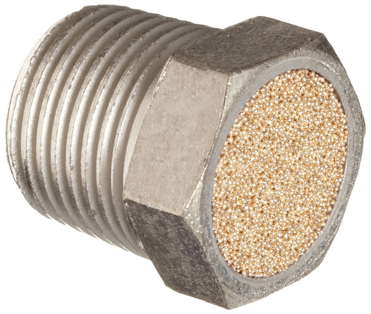 Dixon ASP-3BV Nickel Plated Steel Air Hose Fitting, Breather Vent, 3/8'' NPT Male, 3/4'' Length