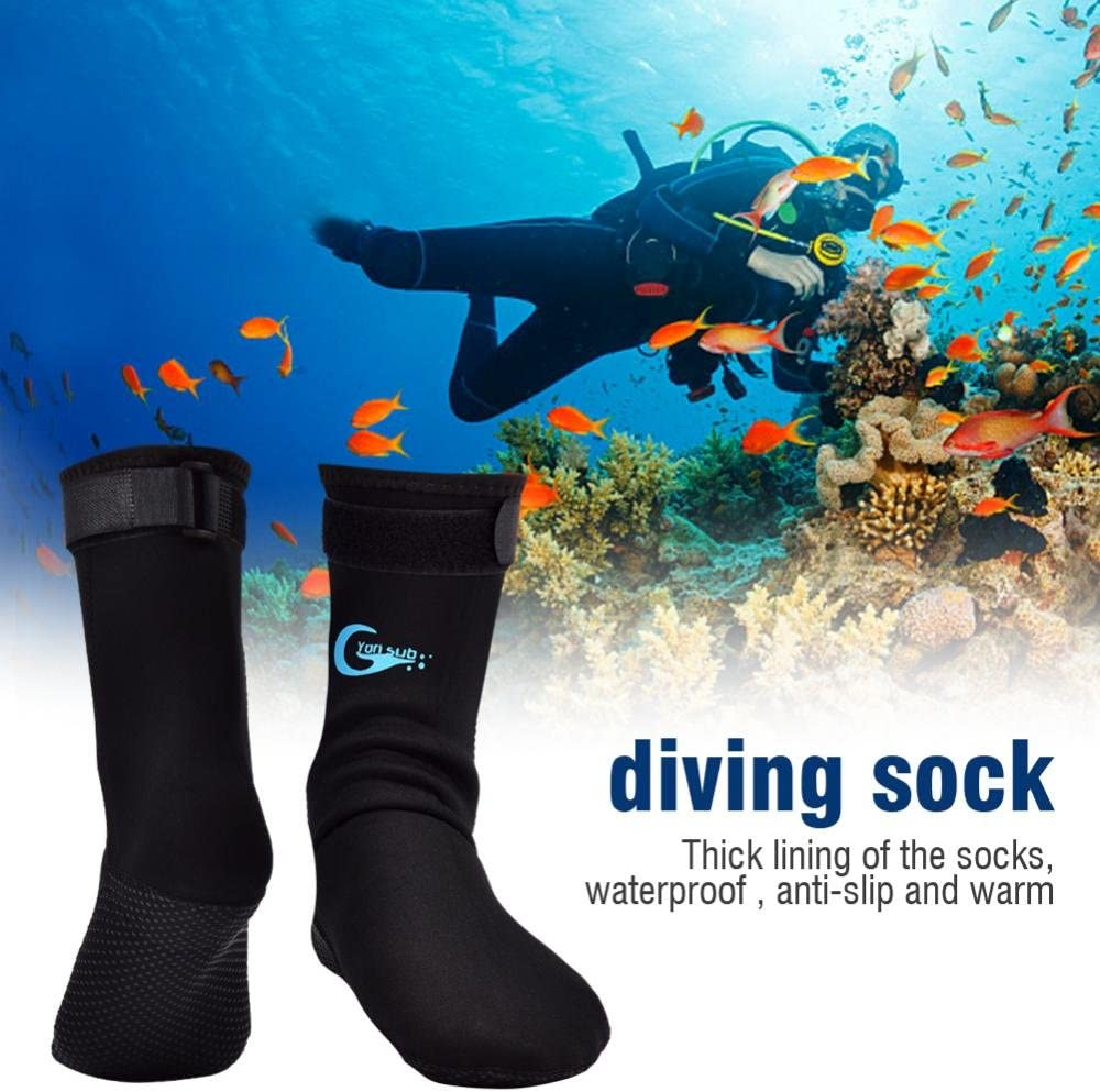 Keenso Diving Socks Yon Sub 1 Pair Skidproof Warm Diving Snorkeling Surfing Swimming Socks Accessory