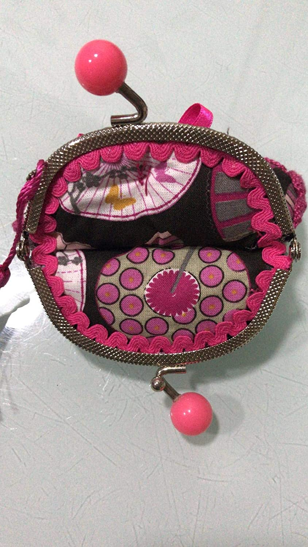 Monedero hecho a mano tela abánicos: Amazon.es: Handmade
