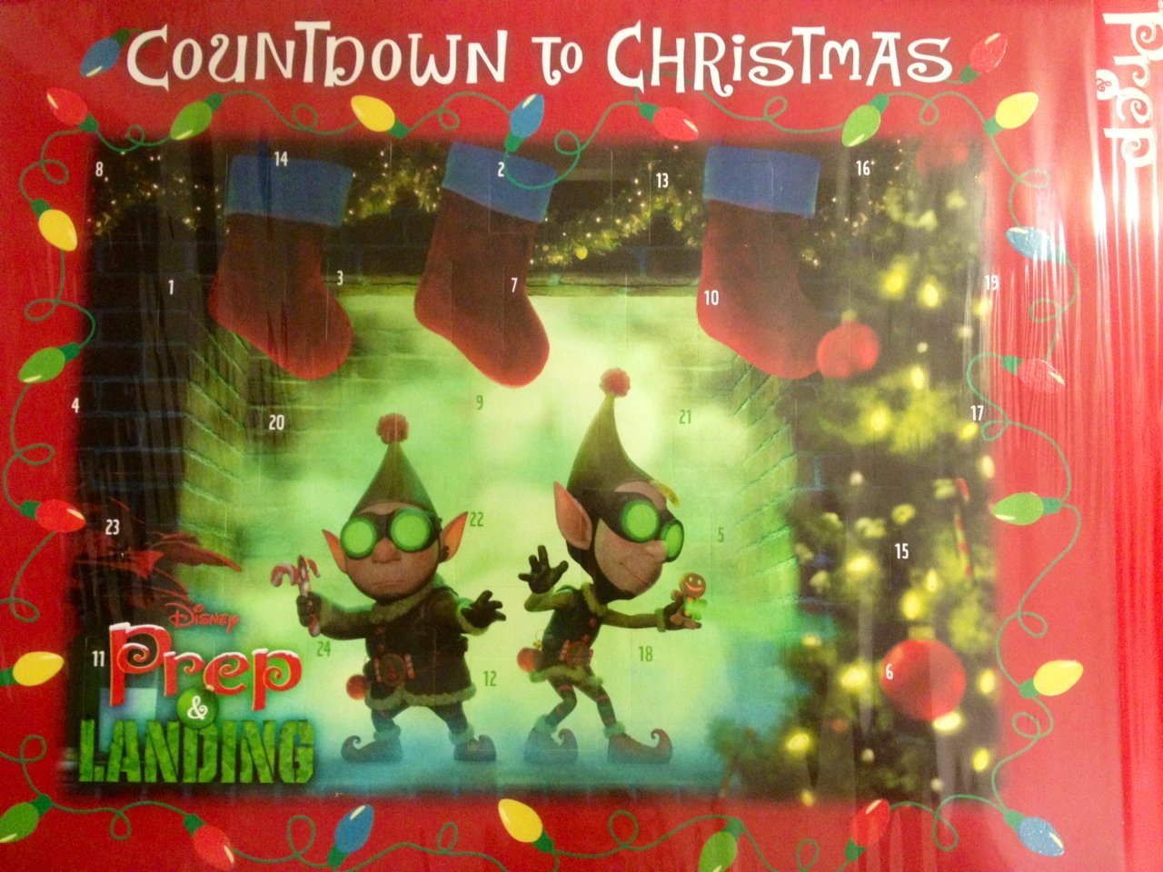 Amazon.com: Disney Prep and Landing Countdown to Christmas Advent ...