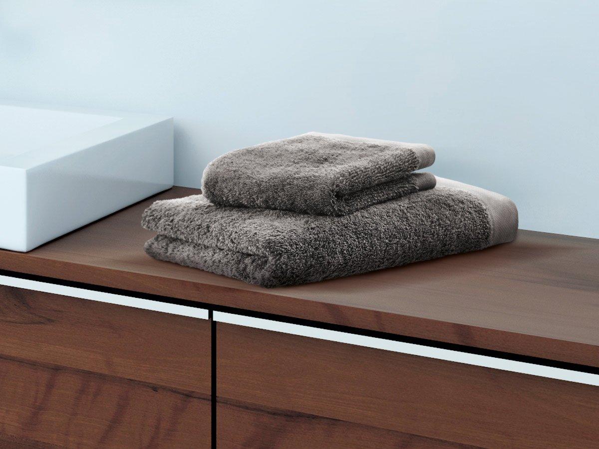 herzbach Home Toalla Toalla de ducha Premium Calidad de Lujo de 100/% algod/ón egipcio 70/x 140/cm muy suave algod/ón Gaublau 70 x 140 cm 600/g//m/²