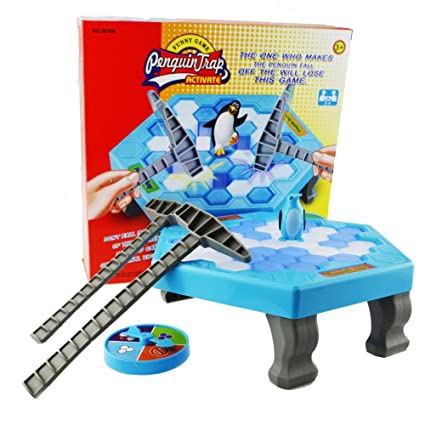 Puzzle Table Penguin Trap Activate Funny Game Interactive Ice Breaking Table Penguin Trap Entertainment Toy For Kids Family Game Toys & Hobbies Stacking Blocks