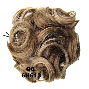 Amazon Com Prettywit Hairpieces Short Curly Hair Extension Messy