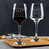 Personalised Wine Glass/Engraved Wine Glass/Personalised Fathers Day Gifts/Personalised Gifts For Dad/Dad Wine Glass/Personalised Wine Gifts For Dad Grandad Stepdad
