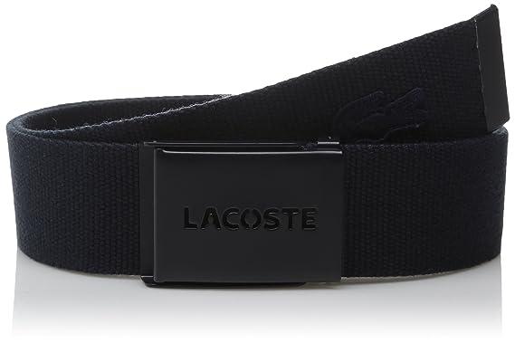 17b6159c820cb Lacoste Men s Men s Embossed Logo Textile Belt