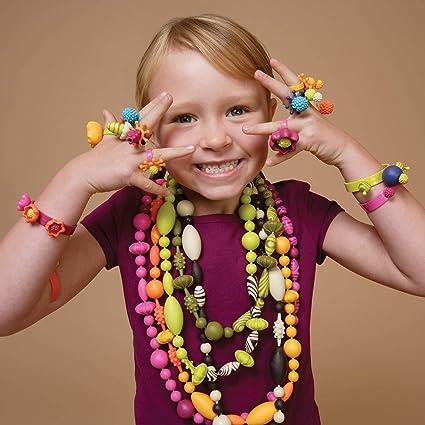 Kids Arts /& Crafts Wooden Bead Jewellery Bracelets Necklaces Set Fun BRAD