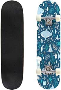 Classic Concave Skateboard Shark Rider on Motorcycle Vector T Shirt Design Longboard Maple Deck Extreme Sports and Outdoors Double Kick Trick for Beginners and Professionals