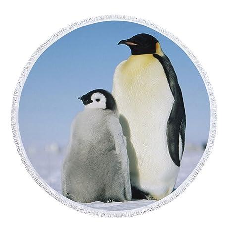 Stillshine Mandala Toalla de Playa, Animal 3D León Ciervo Pingüino Lobo Lmprimir Toalla de Playa