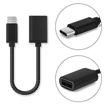 subtel Cable USB OTG Compatible con Lenovo Tab4 8 Plus / 10 Plus/Yoga Tab 3 Plus/Smart Tab S10 - Adaptador OTG (Cable Conector USB A (Standard USB), ...